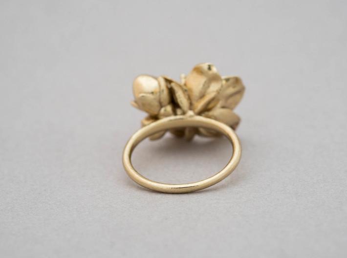 Petite Cherry Ring 3d printed