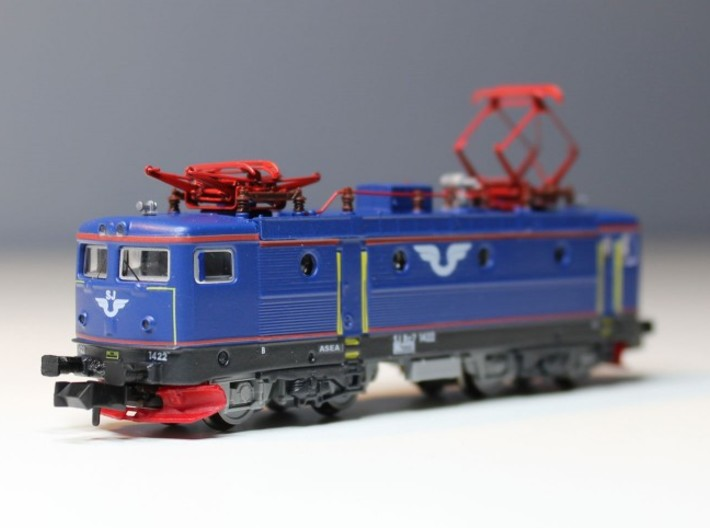 2 x Front plow to Swedish RC locomotive 3d printed