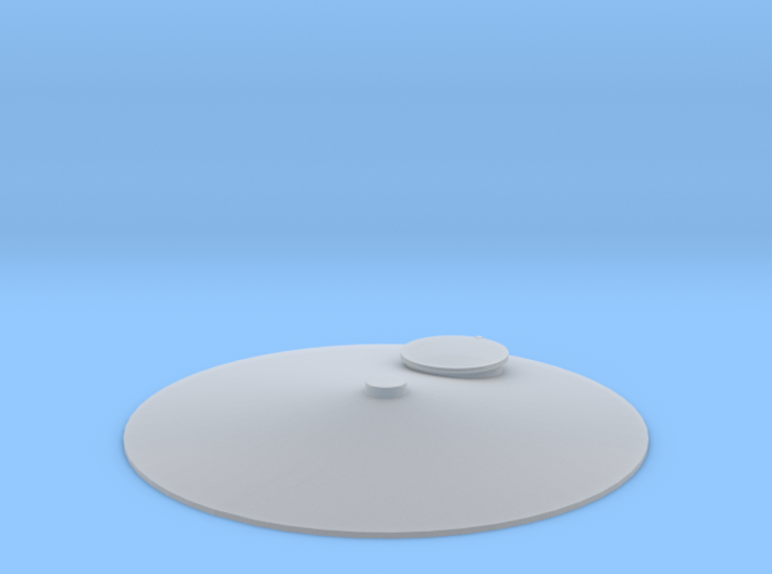 """'HO Scale' - Storage Tank Top - 1 1/2"""" PVC w/o Rai 3d printed"""