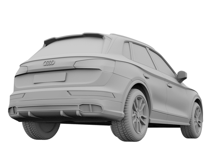1-64 audi sq5 2017 hollow wheels attached (repaire 3d printed