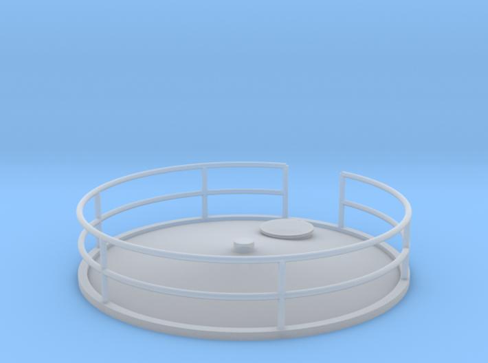 "'HO Scale' - Storage Tank Top - 2"" PVC 3d printed"