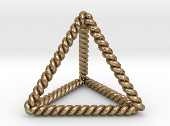 Twisted Tetrahedron LH 3d printed