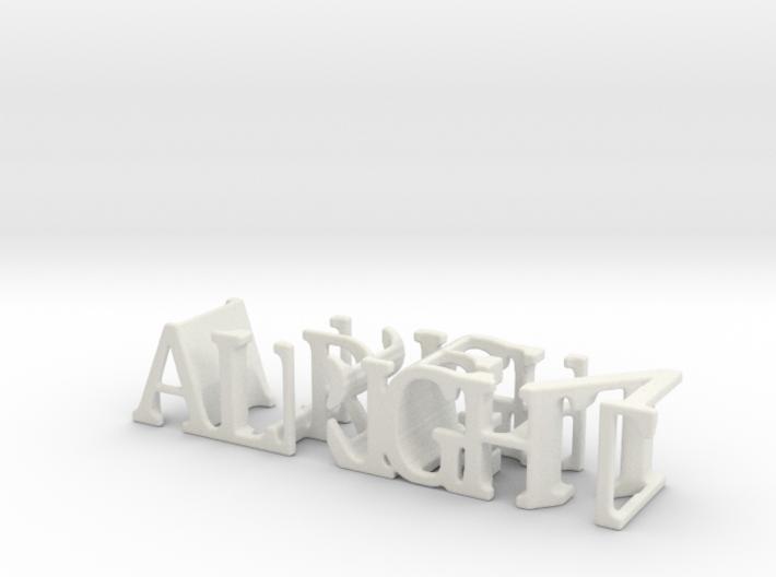 3dWordFlip: ALRIGHT/THEN 3d printed