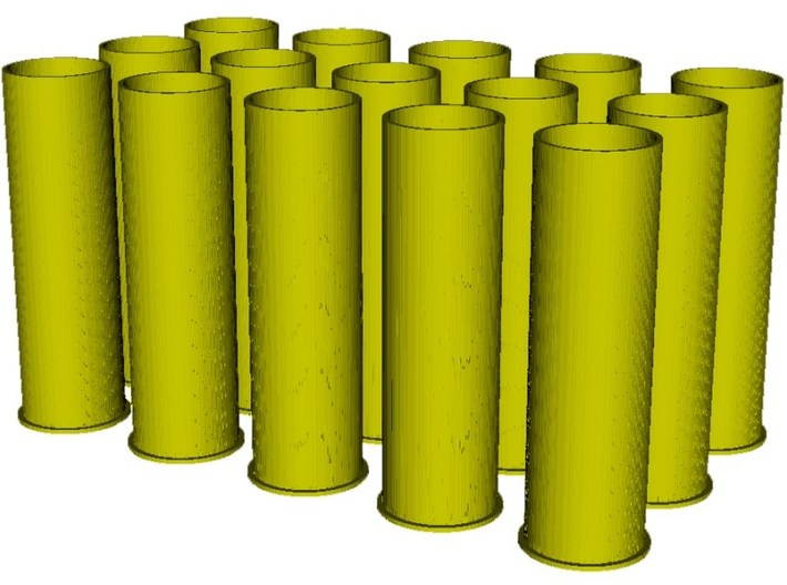 1/16 scale Howitzer 105mm cartridge M14 cases x 15 3d printed