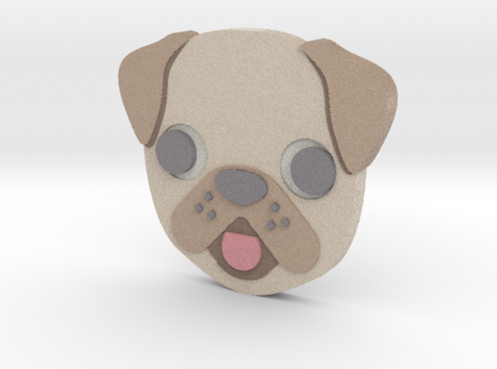 Emoji Dog 3d printed