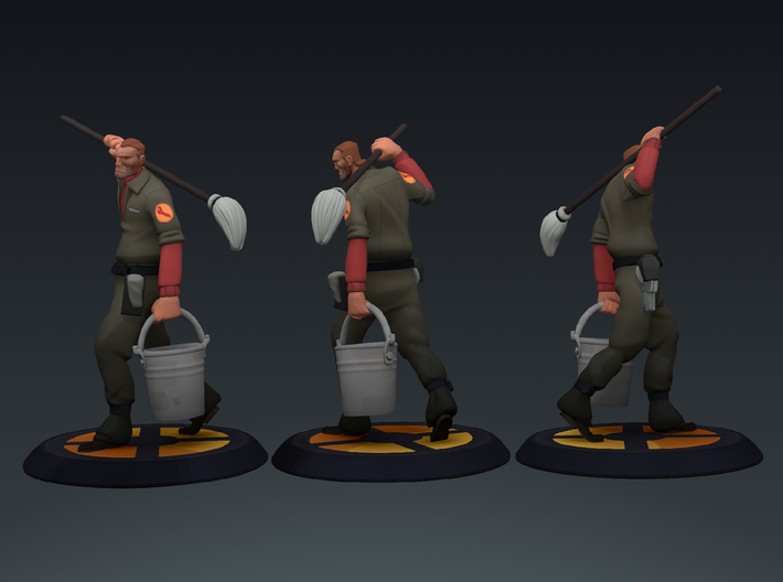 TF2 Janitor 3d printed