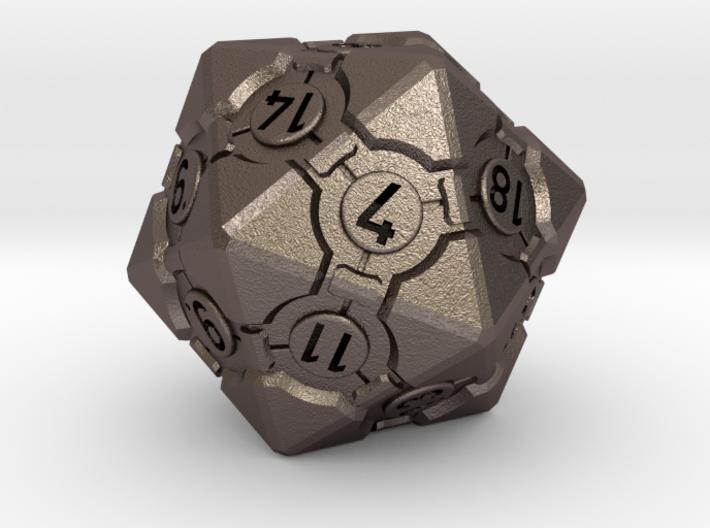 Companion Cube D20 - Portal Dice 3d printed