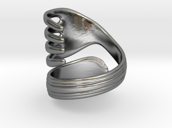 Spoon ring 3d printed