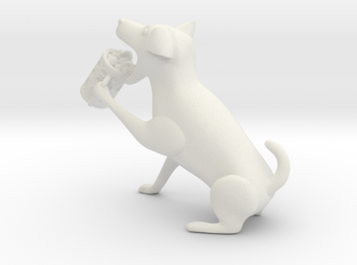 Drinking dog 3d printed