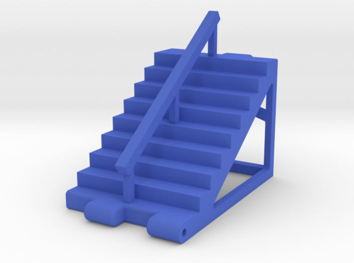 Titans Return Staircase with Center Railing 3d printed