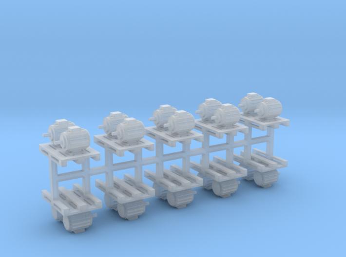 Elektromotoren auf Europalette 10er Set 2 - 1:87 H 3d printed