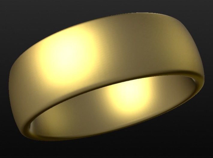 Wedding ring for female 16mm 3d printed