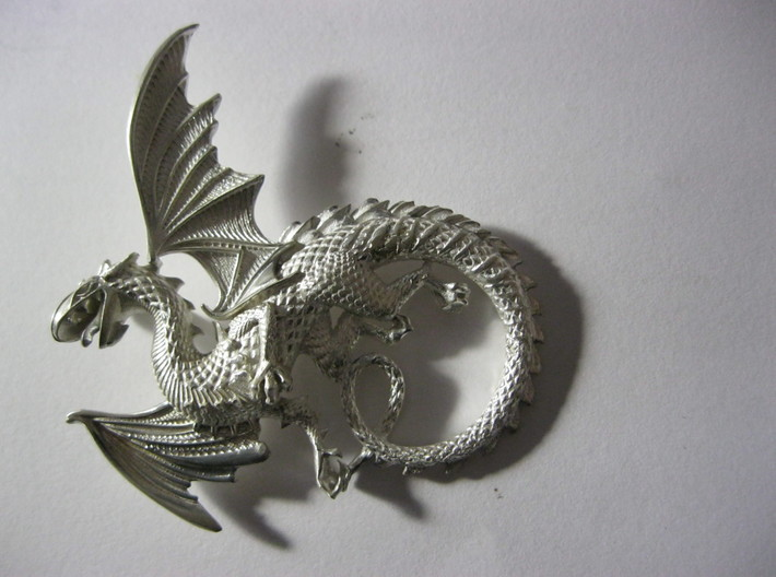 Whitby wyrm dragon pendant 3d printed the-whitby-wyrm dragon
