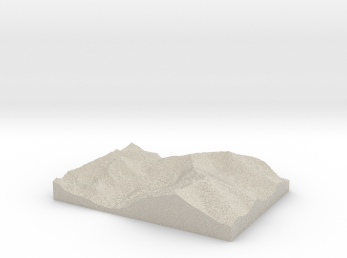 Model of Mount Cameron 3d printed