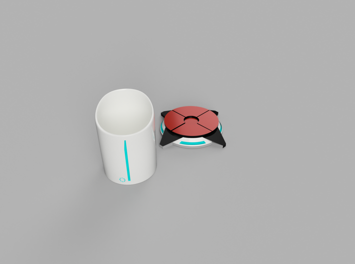 Portal ® Coffee Cup Stand - Portal 2 button 3d printed Cup stand with Cup