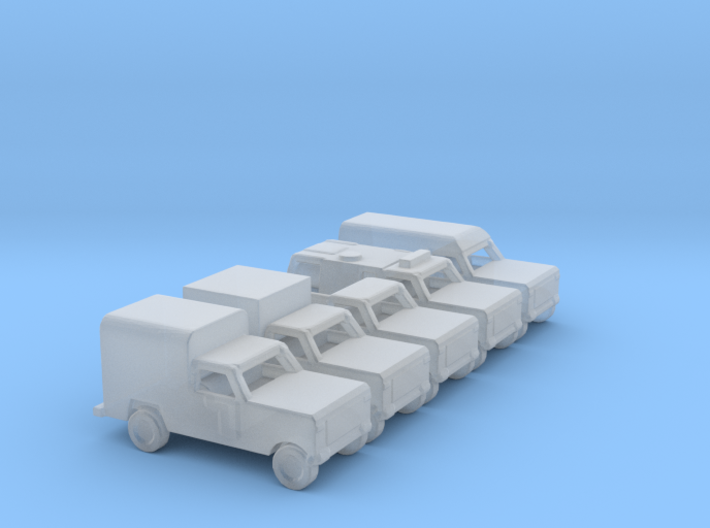 1/285 Scale Dodge Truck Set Of 5 3d printed