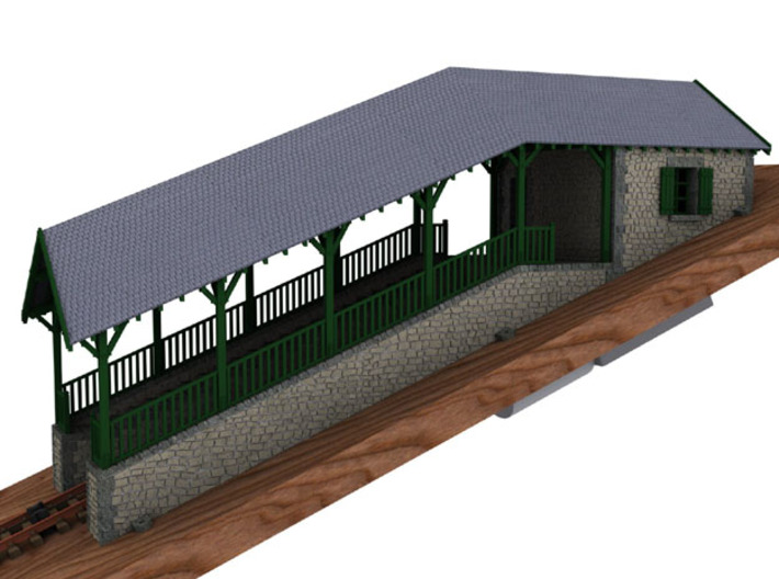 HOfunMD12 - Mont Dore funicular station 3d printed