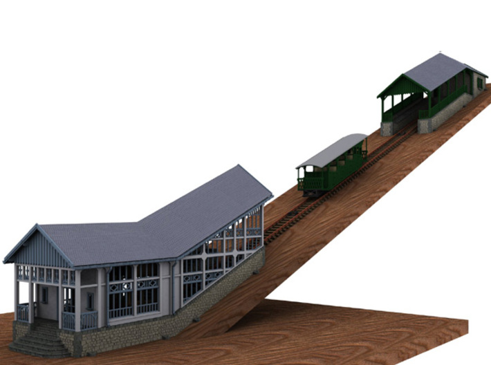 HOfunMD22 - Mont Dore funicular station 3d printed