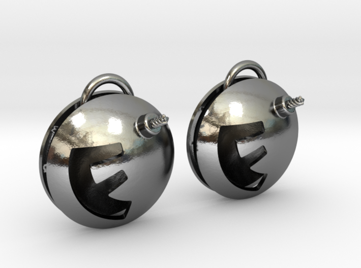 F-Bomb earrings 3d printed