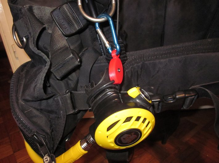 SCUBA - C. LP And HP Hose Clip And Octopus Holder 3d printed