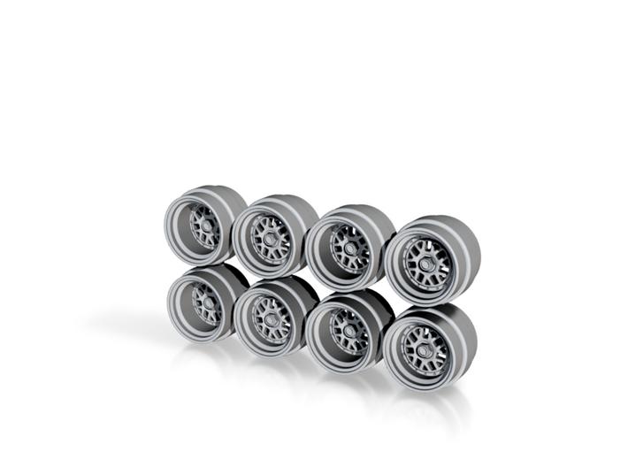 BBS E01-16 7.3mm Hot Wheels Rims 3d printed