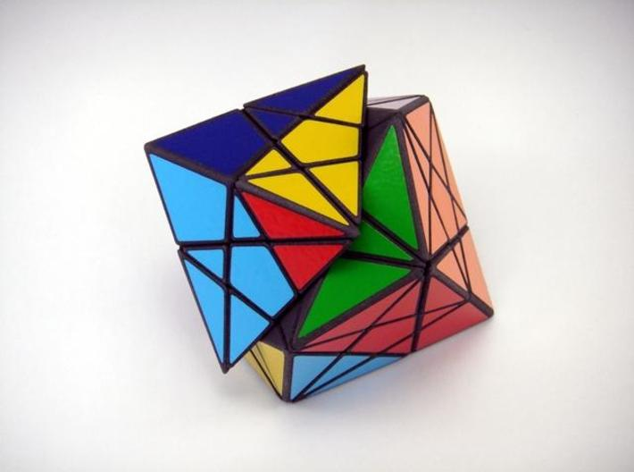 Twisted-8 Puzzle 3d printed Vertex 45 Degree Turn