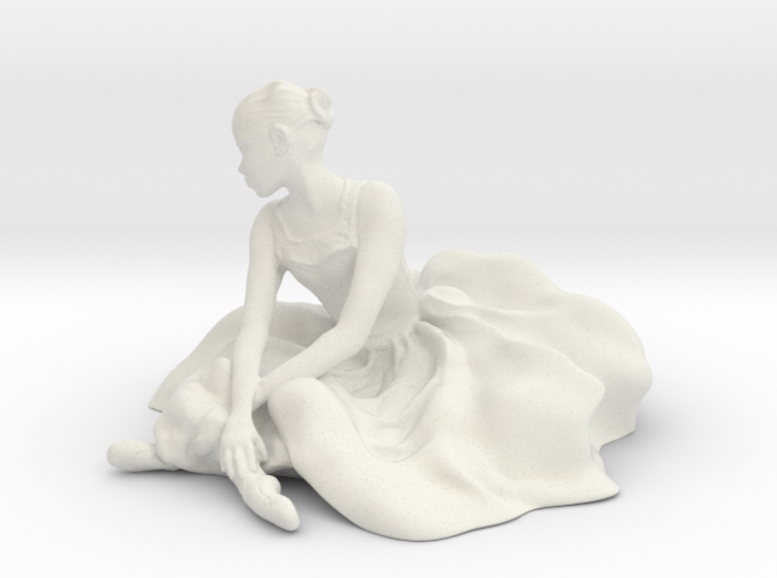 Seated Ballerina 3d printed