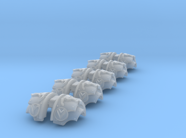 5x Greek Bull= Cataphractii Shoulder Sets 3d printed