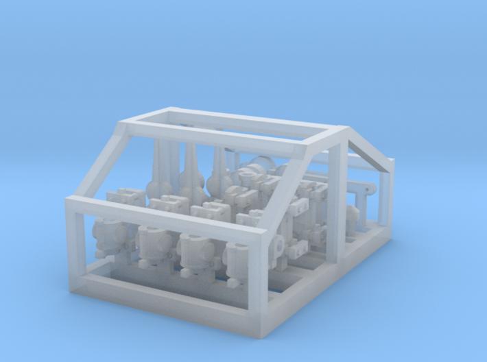 HO LQ Steel Post Fittings X 4 3d printed