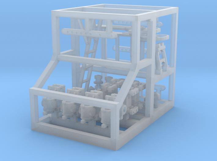 HO WCK LQ Bracket Signal Steel Post Fittings 3d printed