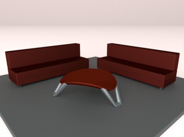 scale modelled coffee table 1 (1:22.5) 3d printed Example of design used in a scene.