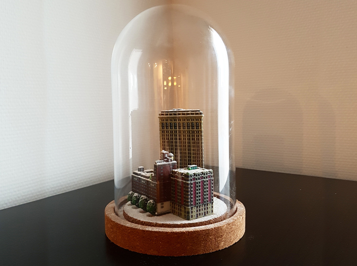 Flatiron Building New York 4 x 4 3d printed Add flour to make a winter diorama