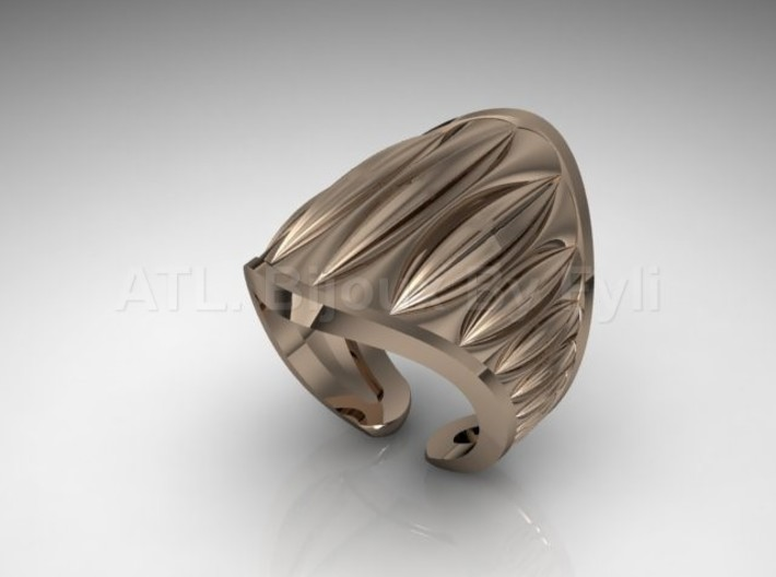 Cocoa Pod Ring – Size 8-11 3d printed