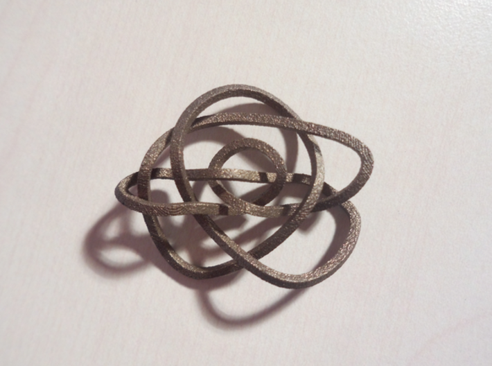 Ochiai unknot (Square) 3d printed