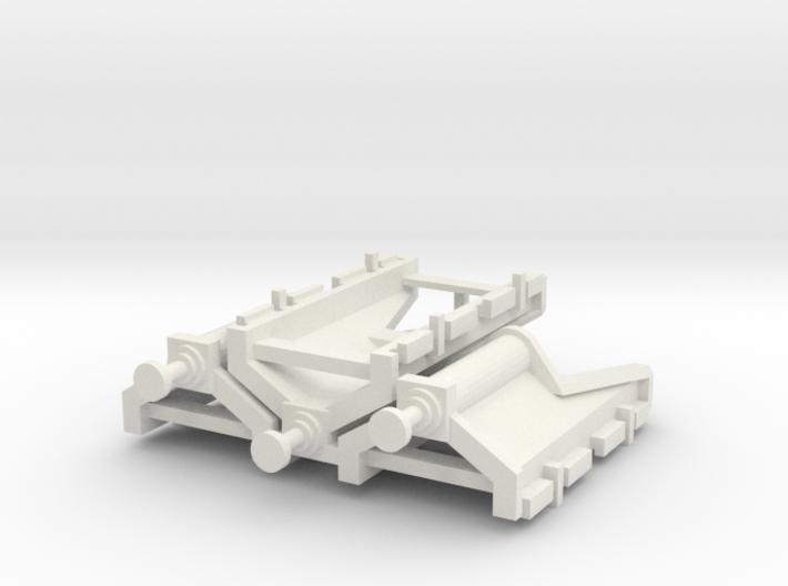 Modern buffer stop x3 3d printed