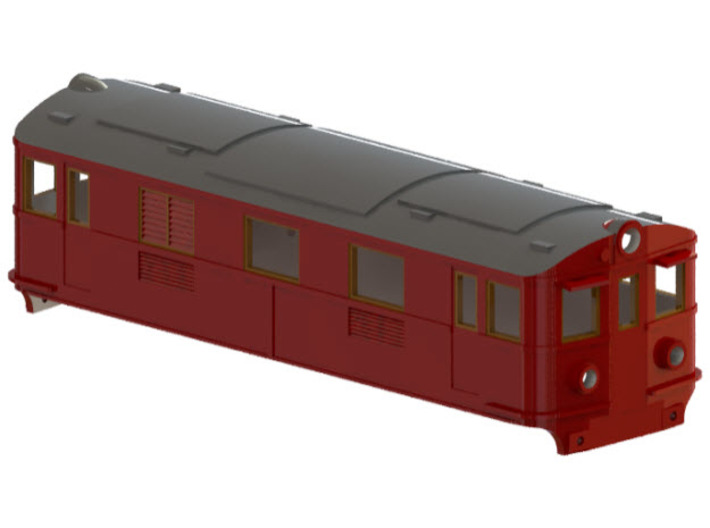 Swedish GBJ/SJ electric locomotive type Bg/Bs – N 3d printed CAD-model