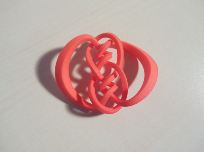 Knot 10₁₂₀ (Square) 3d printed