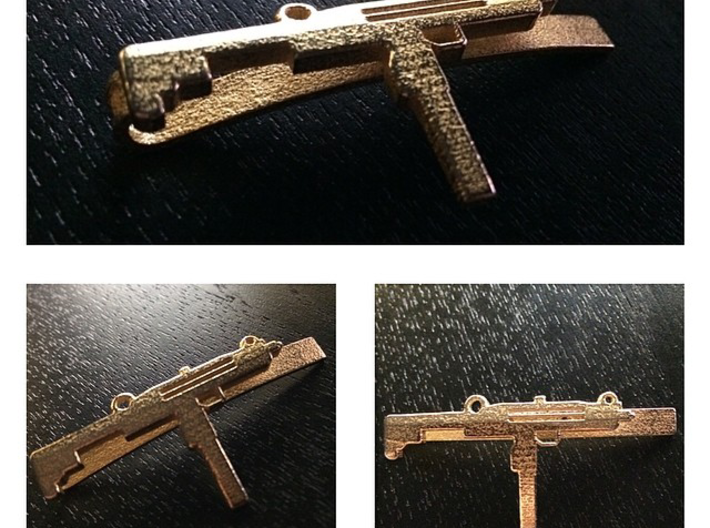 UZI MONEY/TIE CLIP 3d printed