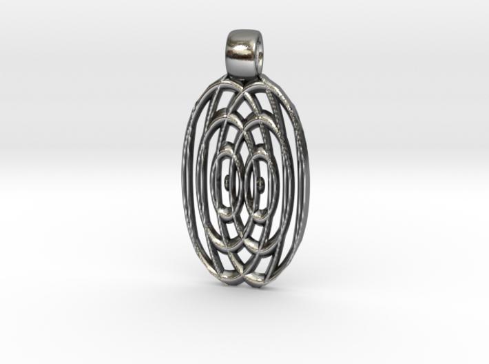 Waves [pendant] 3d printed