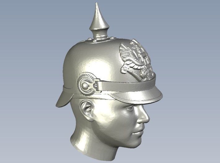 1/33 scale figure heads w pickelhaube helmets x 12 3d printed