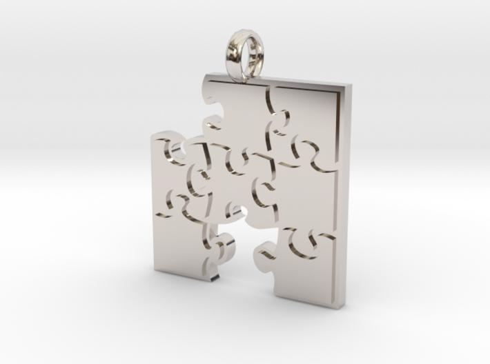 Puzzle  [pendant] 3d printed