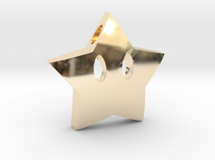Mario's star  [pendant] 3d printed