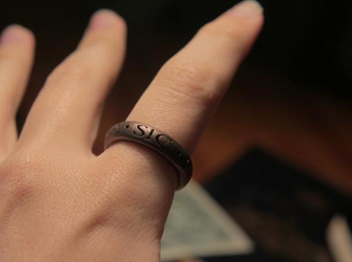 Sir Francis Drake Ring - Uncharted 3 Version 3d printed U3 ring in antique bronze
