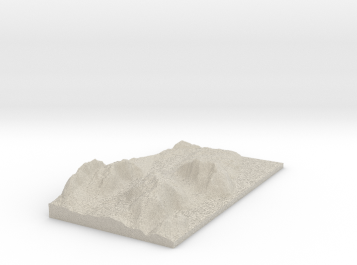 Model of Acadia Mountain 3d printed