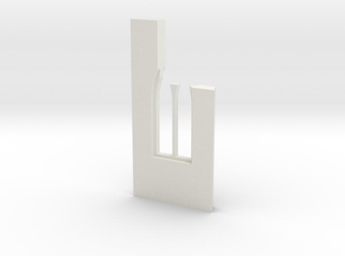 shkr043 - Teil 43 Seitenwand mit Fenster1-3 abgebr 3d printed