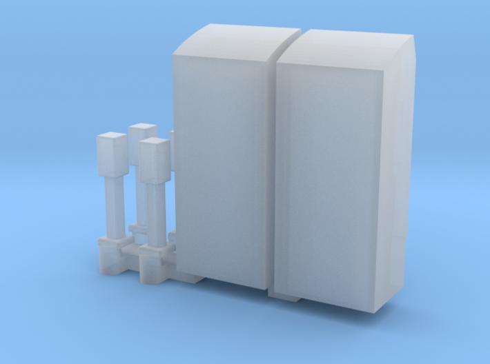 Kaartautomaat en stempelautomaat NS schaal TT 3d printed