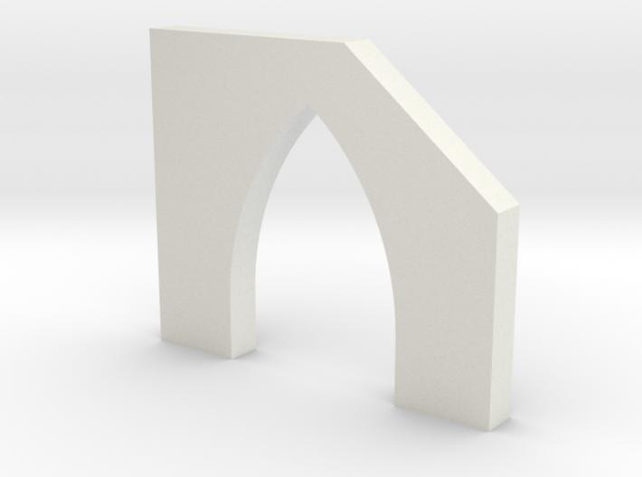 shkr055 - Teil 55 Stützmauerpfeiler mit Durchgang 3d printed