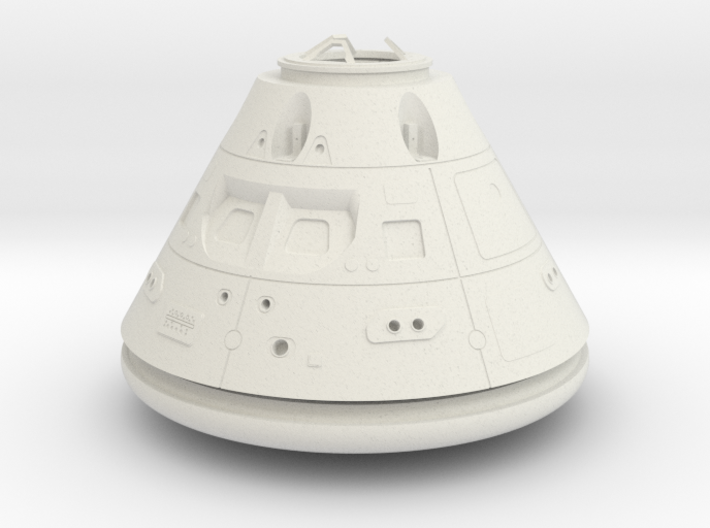 Orion Crew Module (CM) No Tiles 1:24 3d printed