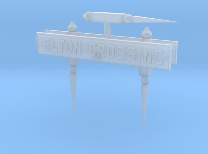 EL41B Nameboard and Finials 3d printed