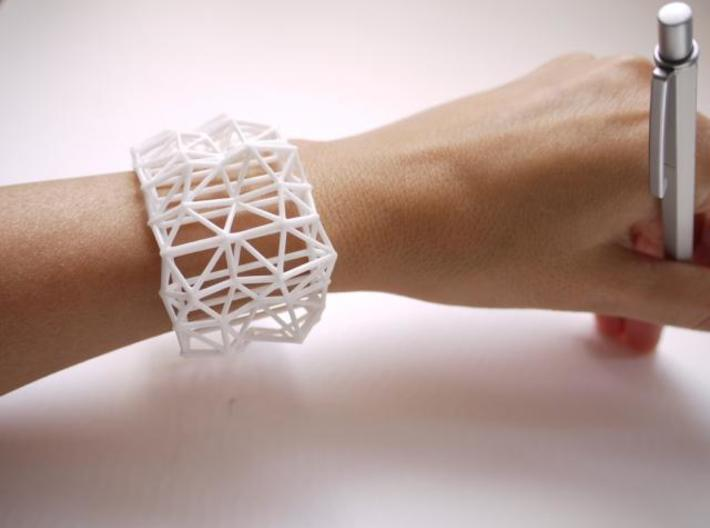 Faceted Cuff     3d printed Description